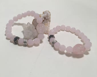 Pink Lady - Set of 2 Bracelets