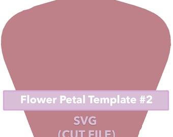 Paper Flower Template #2 SVG file