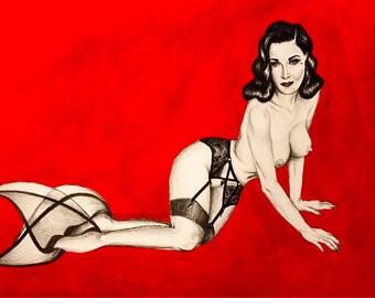 Dita Von Teese Mermaid Seamed Stockings print