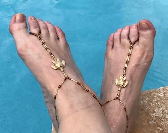 Turtle Barefoot Sandal Tutorial