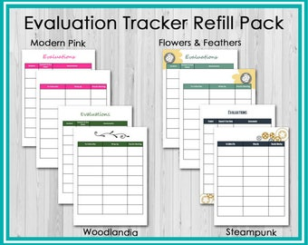 Refill: Evaluation Tracking Pages