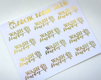 Wash Brushes - FOILED Sampler Event Icons Planner Stickers