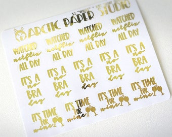 Not Today Quotes - FOILED Sampler Event Icons Planner Stickers