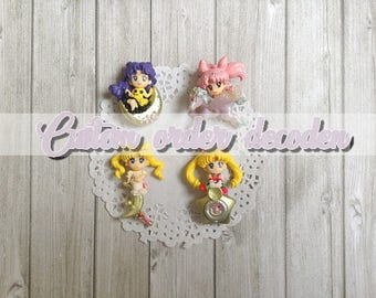 Decoden custom case [Made to order] - Sailor Moon figures