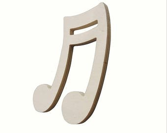 Wooden musical note six pieces