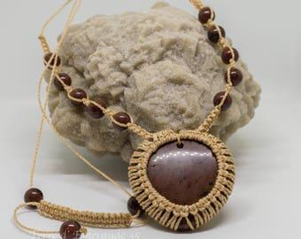 Mahogany Obsidian necklace