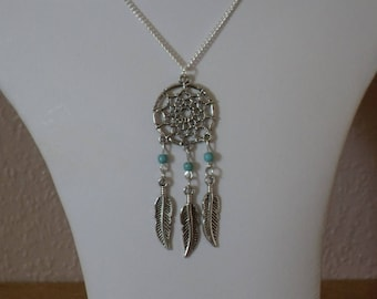 Dreamcatcher Jewelry,Dreamcatcher Necklace,Silver Dreamcatcher Necklace Pendant Jewelry,Native American Turquoise Dreamcatcher