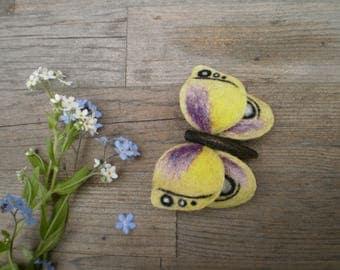 Brooch butterfly Felt brooch Woolen brooch Accessory Butterfly