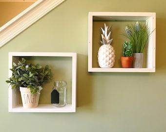 Geometric Box Shelves