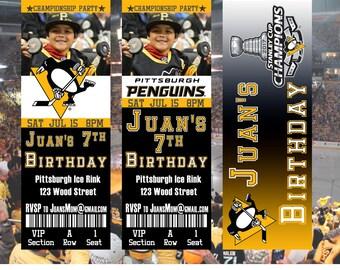 Pittsburgh Penguins Ticket Invitation