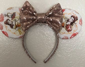 Belle rose gold Ears