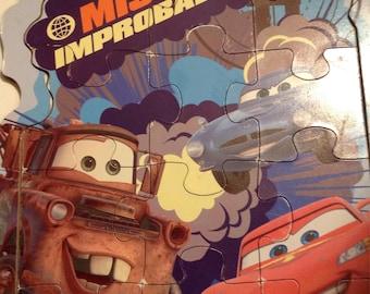 Disney pixar Cars 12 woodboard puzzle
