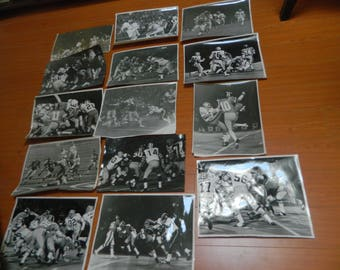 """1970s BC Lions photo collection 61 Large photos of ACTION by Bill Cunningham 14"""" x 11"""" classic CFL Priceless~~"""
