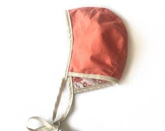 Flamingo Bonnet // Baby Bonnet // Coral Bonnet