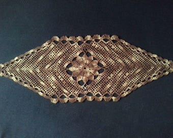 Crochet doily - Oval doilies - Medium doily - Large doily - Brown doily - Home decor - Crochet doilies