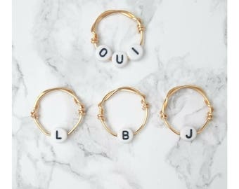 Wedding Favors, Bridal Shower, Ring, Engagement Ring, Bride Gift, Wedding, Initials Ring, Baby Shower, Baby Shower Gift, Baby Initial