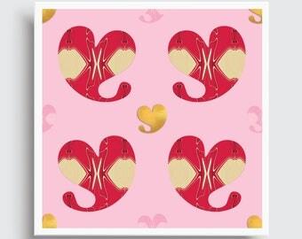 XO HEARTS   Pattern Art Print