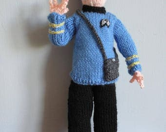 Knitted Spock Star Trek