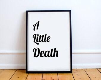 A Little Death Digital Print Wall Art Poster Design