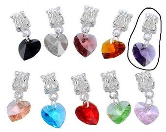 Heart charm pendants