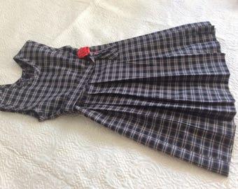 Formal Plaid Pleated Dress