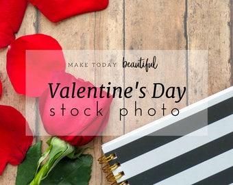 Valentines Stock Photo   Flatlay   Lifestyle Photography   Marketing Photo   Social Media Photo