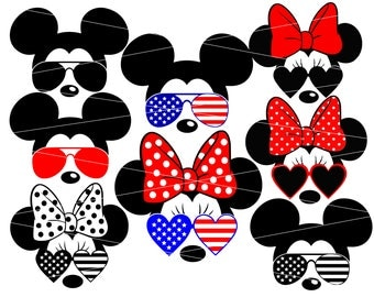 Minnie Mouse svg minnie mouse svg sunglasses minnie mouse sunglasses svg disney svg files for Cricut Silhouette Vector Files svg png eps dxf