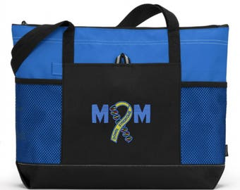 Down Syndrome Awareness/ Down Syndrome Tote Bag/ Embroidered Down Syndrome Tote/ Down Syndrome Mom Bag/ Down Syndrome Gift