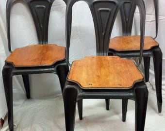 Nr 3 chairs chairs original Fibrocit 1950