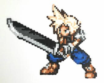 Cloud Final Fantasy beads