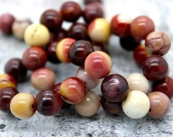 Nabural Mookaite Round Gemstone Beads (4mm 6mm 8mm 10mm 12mm)