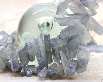 Dye Light Purple Lavender Quartz Chips Gemstone Beads