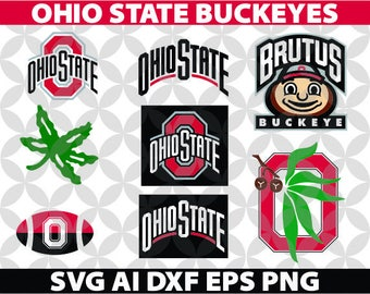 Ohio State BUCKEYES SVG, Eps Ai Dxf Png Monogran Silhouete Cricut Clipart Decal
