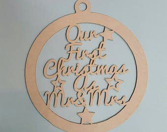 Christmas Decoration - Our first Christmas as Mr & Mrs