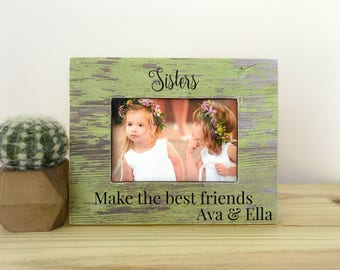 Personalized Sisters Frame. Gift for Sisters Nursery decor. Brothers picture frame. Sisters frame. Personalized picture frame. Custom gift f