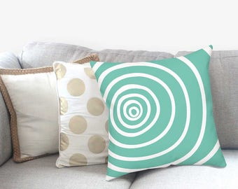Blue Cushion Covers - Boho Accent Pillow - Accent Pillow - Modern Farmhouse - Striped Pillow Sham - Modern Home Decor -  Decorative Pillow