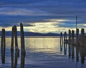 lake champlain vermont sunset