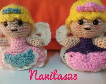 Fairy teeth, amigurumi crochet purse, small pocket, butterfly wings, children baby shower gift for mom, gift for her, girl