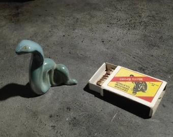 Vintage Porcelain Figurine. Snake