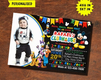Mickey Mouse Invitation / Mickey Mouse Birthday / Mickey Mouse Invite / Mickey Mouse Party / Mickey Mouse Birthday Invite / Mickey Mouse
