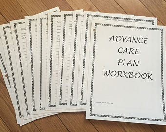 DIGITAL, Advance Care Planning Workbook, **DIGITAL DOWNLOAD**