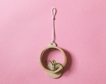 Handmade Ceramic Air Plant Wall Hanging