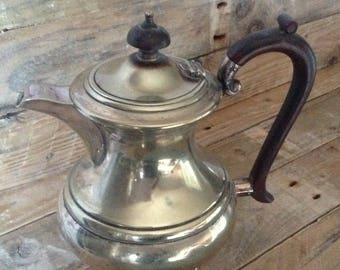Vintage, Silver Plated, Coffee Pot, Lidded, Handle