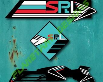 Destiny Sparrow Racing League 3-pack 3x3 2x6 Waterproof Vinyl Decal