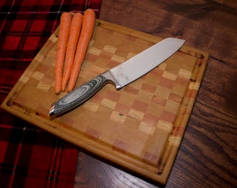 Large End Grain Cutting Board with Juice Groove