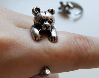 Teddy Bear Adjustable Wrap Ring - Witty Novelty