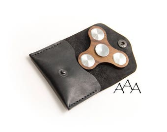 Fidget Spinner Stainless steel Wooden EDC Handmade leather case Metal Fidget Spinner Hybrid ceramic bearing Hand fidget spinner wooden toy