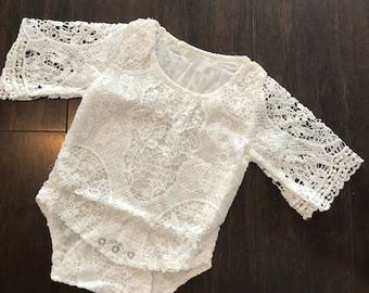 Infant Lace Romper