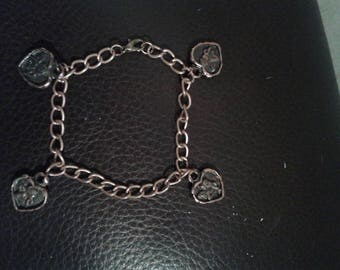 copper chain bracelet with 4 copper Angel medallions