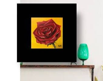 Single rose  - Original Painting